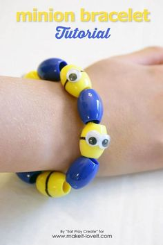 Minion Bracelet Tutorial (...video included) | Make It and Love It