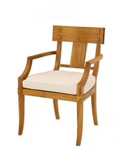 outdoor teak dining chair Inspired by English Regency original