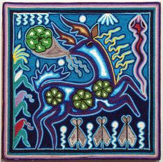huichol yarn painting deer - Google Search