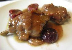 Receta de Conejo en salsa Minis, Meat Steak, Spanish Cuisine, Latin Food, Barbacoa, Canapes, Steak Recipes, Tex Mex, Stew