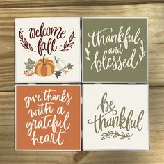 Rustic Coasters, Diy Coasters, Fall Craft Fairs, Fall Crafts, Fall Wood Signs, Fall Decor Signs, Fall Signs, Ceramic Tile Crafts, Christmas Coasters
