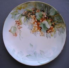 862  Plate With Currants  Ceramic Art