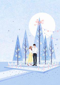 Cute Couple Art, Anime Love Couple, Couple Illustration, Illustration Art, Illustrations, Cover Wattpad, Chibi Couple, Lines Wallpaper, Romance Art