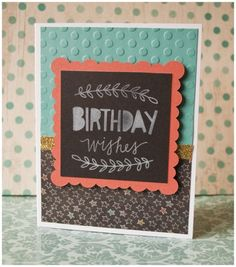 CTMH Chalk It Up Birthday Wishes Card