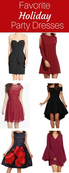 Fall Favorite Party Dresses for all of those Holiday parties you have coming up!