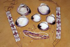 Montauk Wampum - The Montauk people used shells to make beads called wampum. Wampum was used as a form of currency. Educate yourself today. Shell Jewelry, Sea Glass Jewelry, Delaware Indians, World Crafts, Nativity Crafts, Native Beadwork, Seashell Crafts, Native American Indians, Native Americans