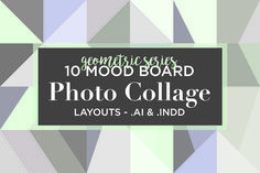 10 Mood Board Photo Collage Layouts by Modern Design Elements on @creativemarket