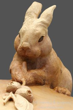 MK carving and sculpting, Mori Kono - Custom Woodcarving services by MK carving / Artist Mori Kono / . Hand carved door, soft and hard wood carving, mantel piece and home decor etc. Rabbit Sculpture, Wood Sculpture, Art Carved, Carved Door, Rabbit Art, Bunny Rabbit, Tree Carving, Bunny Art, Wooden Animals