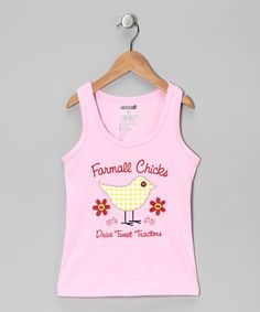 Take a look at this Pink 'Drive Tweet Tractors' Tank - Kids by International Harvester on #zulily today!