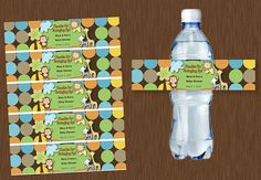 Instant DOWNLOAD Water Bottle Labels Printable by ALLEWIREDUPs, $5.99