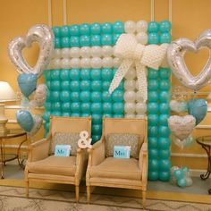 Simple and nice - Balloon Decorations 🎈 Balloon Backdrop, Balloon Columns, Balloon Wall, Ballon Decorations, Birthday Decorations, Simple Balloon Decoration, Wedding Balloons, Birthday Balloons, Baby Shower Balloons