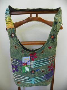 Nepal Rising International Hippie Hobo Boho Cotton Bag Purse KFC535 NWT