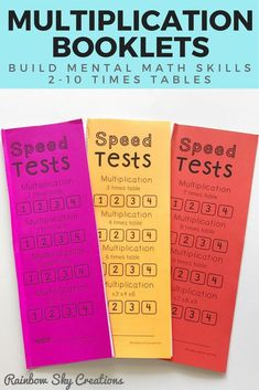 Check out these speed tests to practice your students fluency in multiplication facts. They build proficiency and confidence in timetable recall. Use as timed tests in the classroom, maths mentals, as a home task, math fluency practice or weekly math challenges. Click the link to get the printable {Grade 2, Grade 3, Grade 4, 4th grade, 2nd grade, 3rd grade, homeschool} #rainbowskycreations