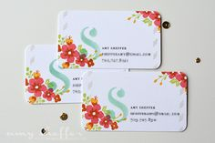 Monogrammed Calling Cards by Amy Sheffer for Papertrey Ink (April 2016)