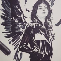 #drawing #sketch #doodles #ink #brushpen #artwork #comics #manga #study #wings #그림 #드로잉 #스케치 #날개 #연습장