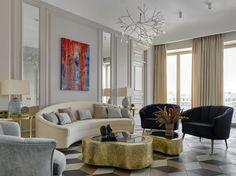 Russian Contemporary Apartment with Boca do Lobo by Ekaterina Lashmanova