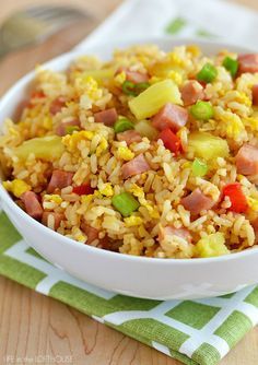 Delicious Hawaiian Fried Rice made with leftover, cold rice. Perfect for summertime!