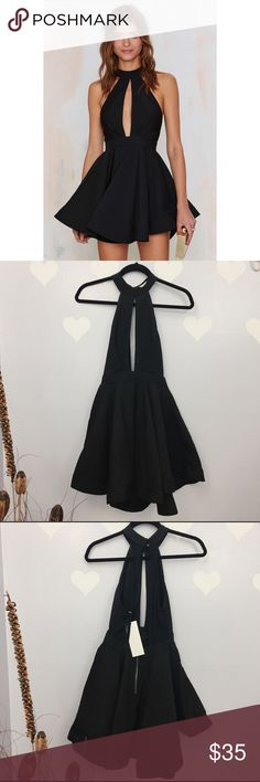 Ginger Fizz Shangai Black Dress ❤️Length 30❤️Pit to pit 14 ❤️Waist 13  Measurements are laid flat. It comes from smoke free home and pet friendly. All the clothings are kept in closed container, but sometimes the tiniest fur might slip.  🐼Stock 39-WLB🐼 Nasty Gal Dresses Backless