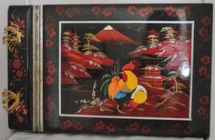 Vintage Oriental Inlayed and Hand Painted Musical Photograph Album
