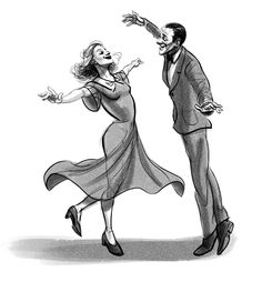 Gesture studies of Fred Astaire and Ginger Rogers Fred Astaire, Art Sketches, Art Drawings, Dancing Drawings, Fred And Ginger, Lindy Hop, Swing Dancing, Dance Art, Waltz Dance