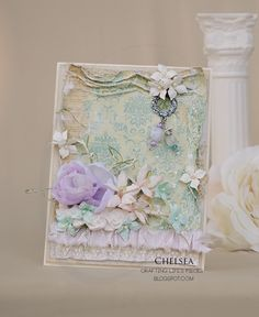 From Chelsea in ?  Crafting Life's Pieces: Shabby pastel card