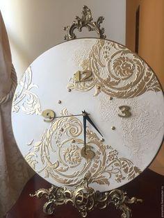 Купить Часы настенные Ар-деко золото - бежевый, часы настенные, часы, часы интерьерные
