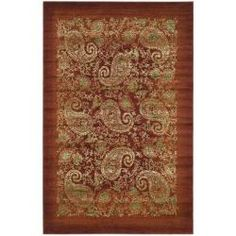 @Overstock.com - Lyndhurst Collection Paisley Red/ Multi Rug (3'3 x 5'3) - Give your floor a color boost with this stylish red polypropylene area rug. This rug brings a cozy feel to your room and is soft and luxurious beneath your feet while it adds a layer of warmth to chilly hardwood, laminate, or tile floors.  http://www.overstock.com/Home-Garden/Lyndhurst-Collection-Paisley-Red-Multi-Rug-33-x-53/5034121/product.html?CID=214117 $42.13