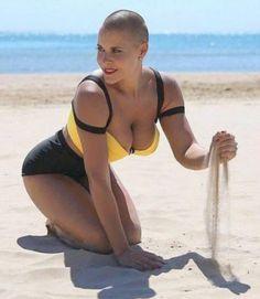 Bald Head Women, Revealing Swimsuits, Buzz Cuts, Bald Heads, Shaved Head, Dares, Bobs, Bikinis, Swimwear