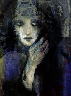With heavy use of black and blue, this painting gives off a strong feeling of sadness and depression. Although there are little spots of the other primary colors (yellow and red) this color scheme is mostly monochromatic, adding black and white to blue.    Just another ordinary day  by Suhair Sibai