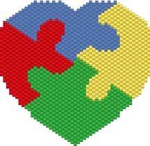 Free Pattern - AUTISM PUZZLE HEART or Autism Heart Amulet Purse