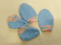 Babys Hand Knitted Mittens and Bootees Set, Baby Accessories, Baby Clothes, Gift, Baby Shower, New Baby, Christmas, Birthday, Baby Layette