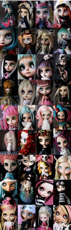 Amazing custom Blythe dolls.