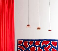 Hal Lamp designed by Guillaume Delvigne and France Rug designed by Nathalie du Pasquier - Milan 2013 Nathalie Du Pasquier, Carpet Design, Lamp Design, Milan, Events, France, Ceiling Lights, Curtains, Rugs