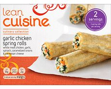 Lean Cuisine Culinary Collection: Garlic Chicken Spring Rolls