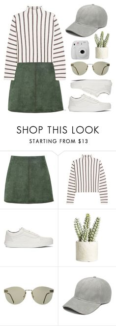 """don't need opinions"" by florenciafashionstreethunter ❤ liked on Polyvore featuring George J. Love, Maje, Vans, Allstate Floral, Fujifilm and topset"