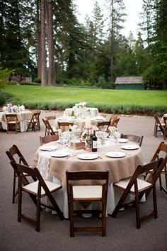 Great set up for outdoor dining.