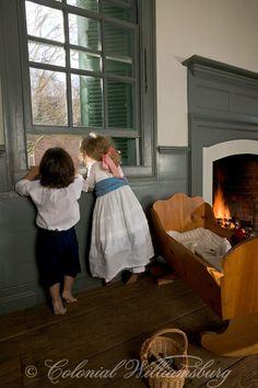 Enfants à la Maison Powell en Décembre Photo de David M. Doody.