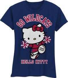 Hello Kitty Cheerleader University of Arizona Hello Kitty Outfit, Hello Kitty Clothes, Arizona Wildcats, University Of Arizona, Arizona State, Go Big Blue, Red And Blue, Boise State Football, Arkansas Razorbacks