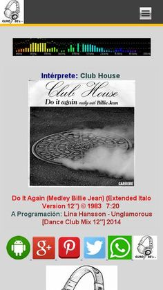 """Club House - Do It Again (Medley Billie Jean) (Extended Italo Version 12'') © 1983 Italian project which started in 1983 and ended in 1996 becoming very well known with their Michael Jackson cover hit """"Billie Jean"""", already made in 1983. Later on in the 90's it became more Dance music starting with """"Deep In My Heart"""". Their latest song was a cover from Sting, and was only released in Australia back in 1998."""