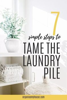 7 simple steps to completely tame that out of control pile of laundry - get your chores done quickly with these laundry hacks - you won't regret it! Putting Outfits Together, Linen Cupboard, Laundry Hacks, Household Chores, Wardrobe Closet, Homemaking, Home Organization, Declutter, Make It Simple