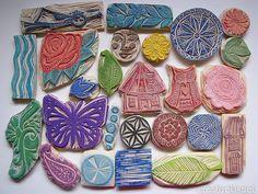 carved stamps set by Regina Lord (creative kismet), via Flickr