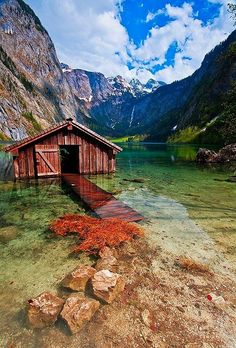 Boathouse, Obersee Lake, Germany
