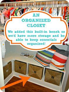 Closet Organization - Built-in Storage
