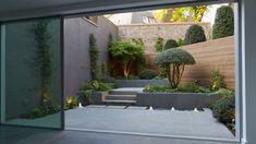 Garden Book - 120 Small Courtyard Garden Design with Seating Area Small Courtyard Gardens, Small Courtyards, Back Gardens, Small Gardens, Outdoor Gardens, Roof Gardens, Contemporary Landscape, Landscape Design, Landscape Architecture