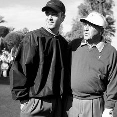 AP guiding JT. RIP to The King. #arnoldpalmer