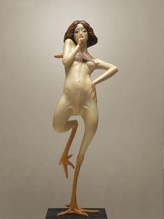YOSHIMASA TSUCHIYA * Japan * http://yoshimasa-tsuchiya.net * fawn| fowl | chicken | bird | sculpture