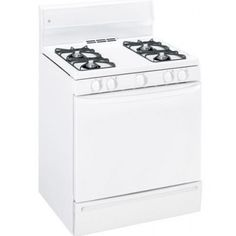GE JGBS04PPT WW 220-240 Volt 50 Hertz 4.4 cu. ft. #Oven Capacity White Color Gas Range (Price: $479.99). How To Cook Brisket, Large Oven, Ribs On Grill, Kitchen Stove, Oven Range, Oven Cleaning, Kitchen Supplies, Microwave Oven, Kitchen Appliances