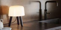 Lampe a poser milk noir o20cm h25cm andtradition  #lampe #light #lampeàposer #tablelamp #verre #glass #bois #wood #chêne #oak #DanishDesign #AndTradition #Milkcollection #chambre #bedroom #bureau #office #livingroom #salon #salleàmanger #diningroom #entrée #entrance #zen #mood #nature #natural #design #nedgis