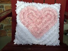 Faux Chenille heart pillow