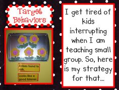 great classroom management idea!